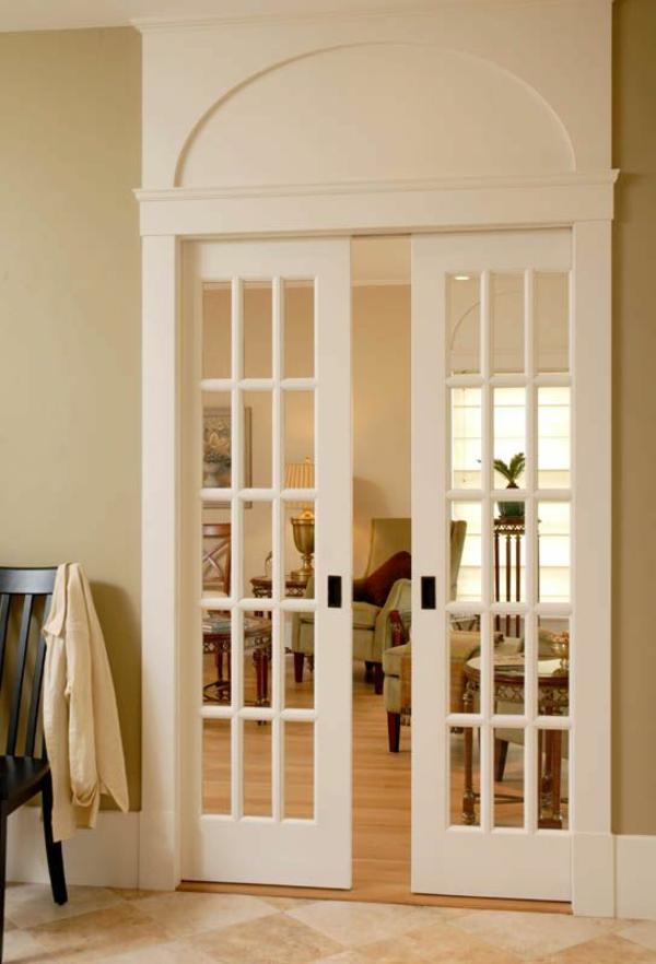 schiebetüren-weiß-innentüren-holz -design-ideen-hochwertige-innentüren