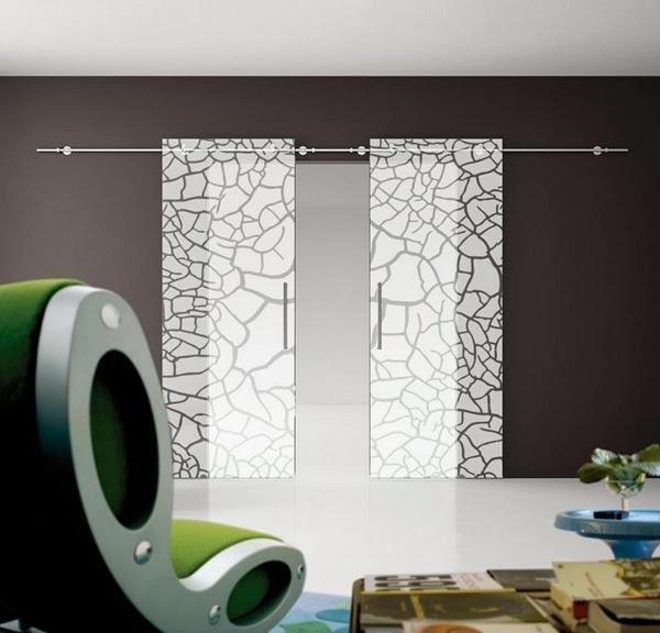 Schiebetür glas design  Moderne Zimmertüren - vielfältige Modelle! - Archzine.net