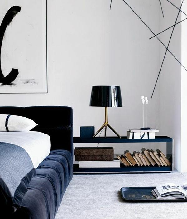 schlafzimmer-inspiration-schlafzimmermöbel-interior-design-ideen--eleganter-schwarzer-nachttisch
