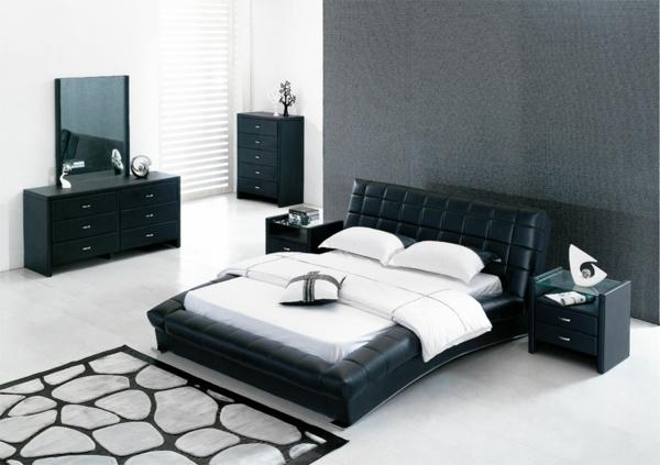 schlafzimmer-inspiration-schwarz-und-weiß-ideen-zu-moderner-gestaltung-innendesign