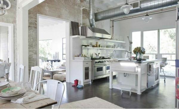 shabby stil - moderner wohnraum in weißer farbe