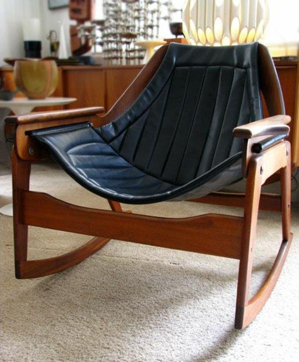 Schaukelstuhl 30 effektvolle modelle for Design stuhl leder holz