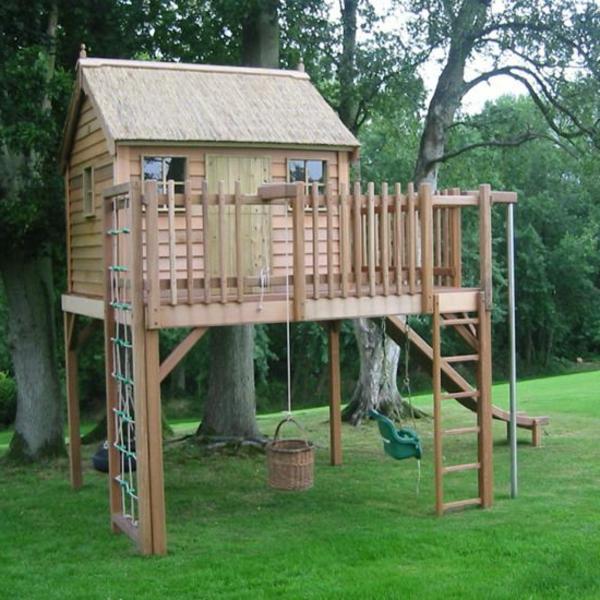Das Spielhaus Super Spaß Für Die Kinder!
