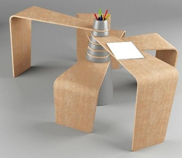 designerschreibtisch - extravagantes modell