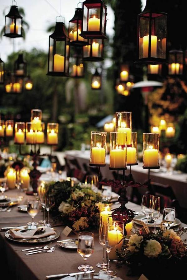 Hochzeitskerzen romantische warme licht - Kerzen deko ideen ...