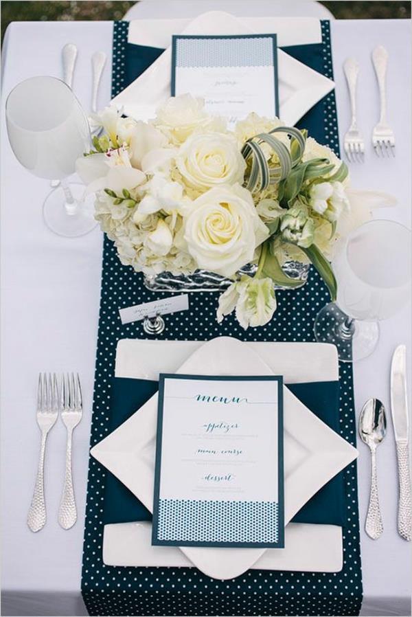 Tischdeko in blau faszinierende ideen for Tischdeko hochzeit beispiele