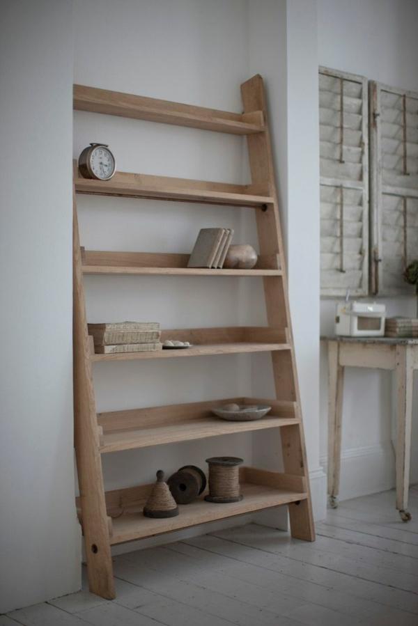 toller-leiter-aus-holz--schöne-interior-design-ideen--