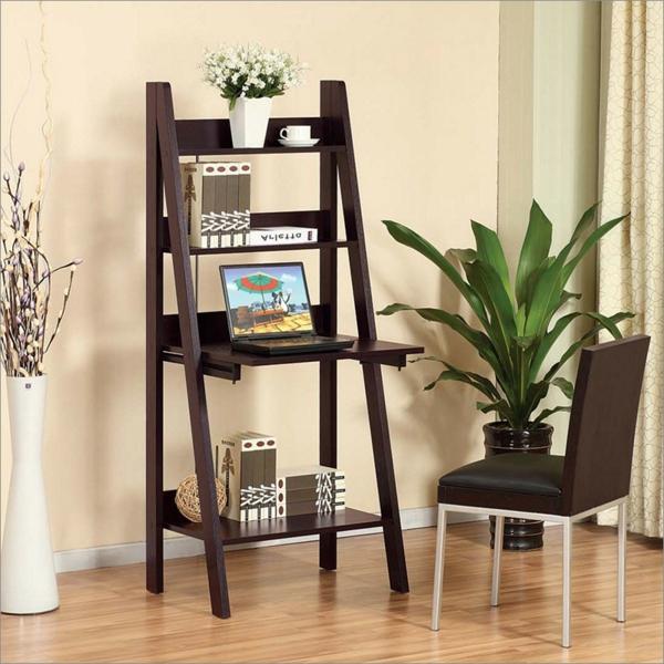 -toller-leiter-aus-holz--schöne-interior-design-ideen-schreibtisch
