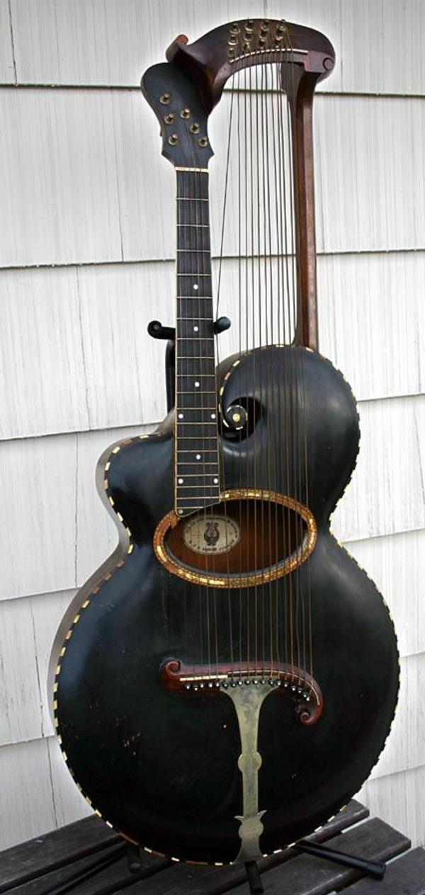 vintage-guitars-super-cooles-schwarzes-modell
