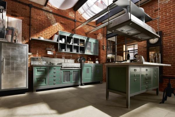 vintage-küche-mit-ziegelwänden-gestaltet-sehr-schickes-aussehen