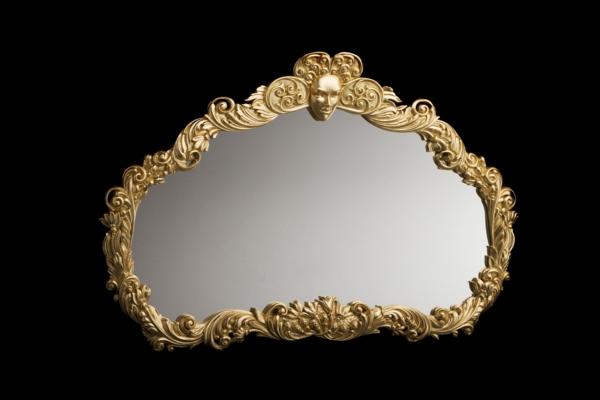 barockspiegel -  sehr interessante form und schwarzer hintergrund