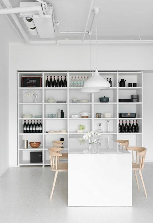 weiße-eszimmermöbel-coole-esszimmermöbel- einrichtungsideen-für-das-esszimmer