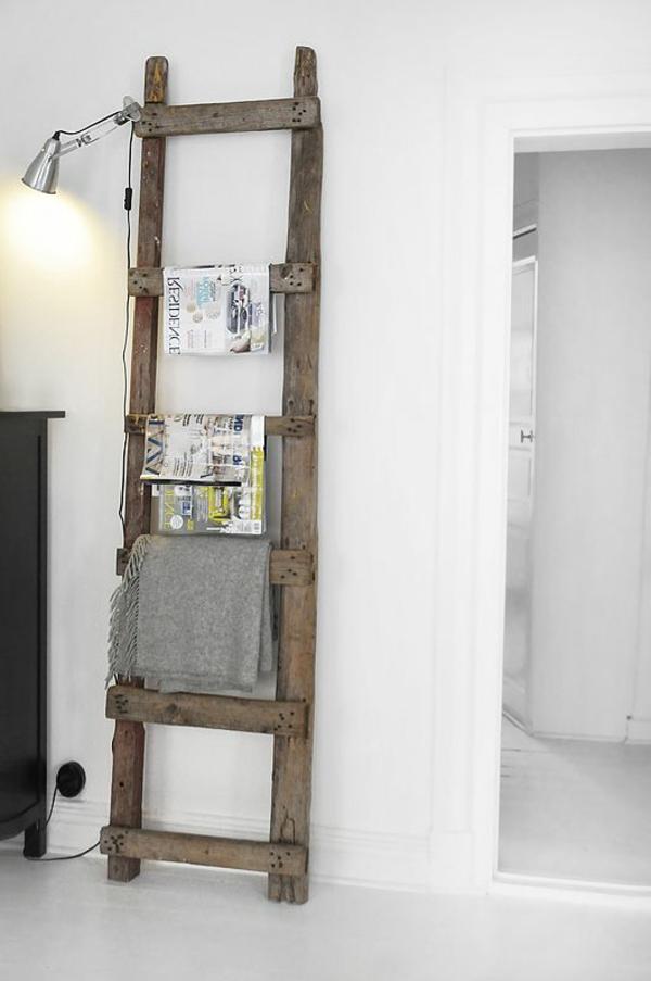 Wood Bathroom Towel Ladders