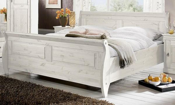 bett im landhausstil coole vorschl ge. Black Bedroom Furniture Sets. Home Design Ideas