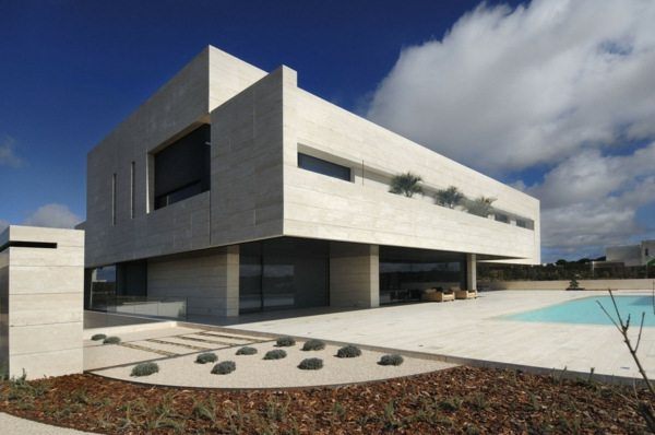 white-colored-wall-green-grass-flower-tree-plant-glass-window-veranda-spain-madrid-real-estate-romantic-vivienda-soul-swimming-pool-wood-varnished-floor-staircase-iron-railing-night-lamp-door-exterior-house-design-home-