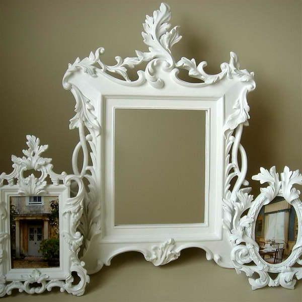 barockspiegel - weißes design - sehr extravagante form