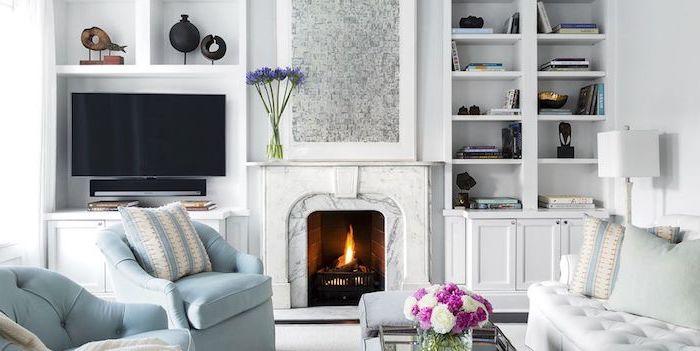 Wohnzimmer in Skandinavischer Wohnstil einrichten, in Weiß und anderen hellen Farben