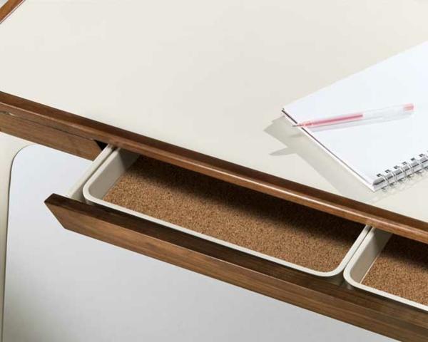 designerschreibtisch - sehr moderne schubladen