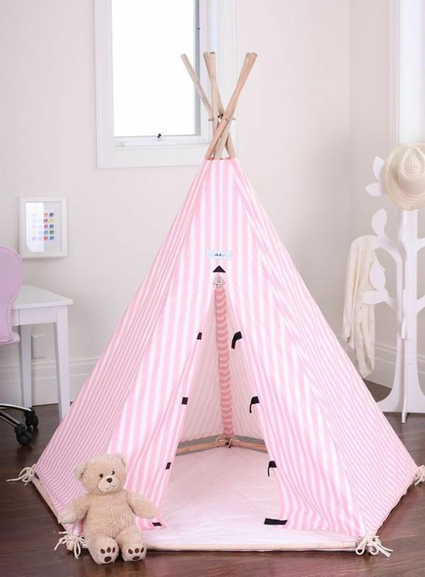 wunderbare-ideen-zur-gestaltung-der-wohnung-rosa-zelt-für-innen