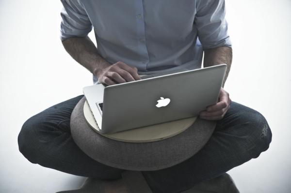 kissen für laptop - rundes ultramodernes modell