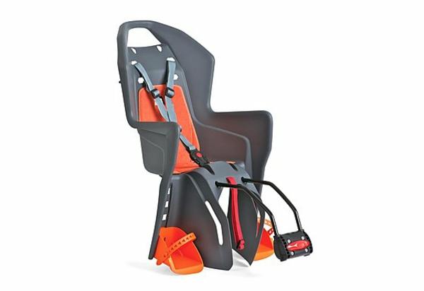 Fahrradsitz-Kinder-modernes-praktisches-Modell-Grau-und-Orange