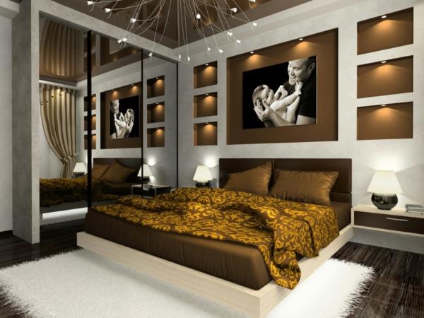 Wandgestaltung-Schlafzimmer-ein-stilvolles-Schlafzimmer-gestalten-schöne-Beispiele