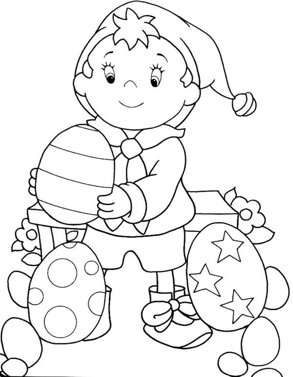 ausmalbilder-ostern-ein-kind-eier