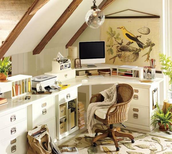 Sie Könnten Entweder Einen Schicken Und Ultramodernen, Oder Einen Eher  Süßen Und Gemütlichen Büroraum Gestalten.