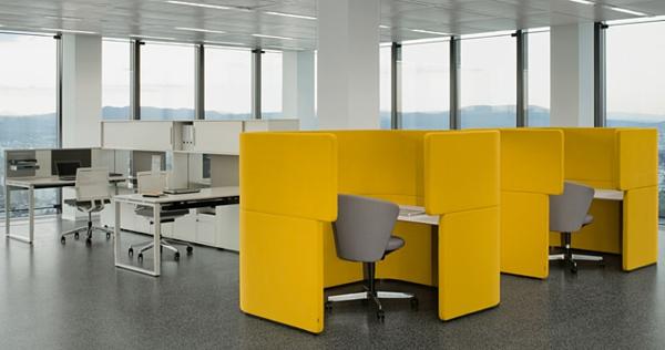 büroraum-gestalten-gelbe-trennwände