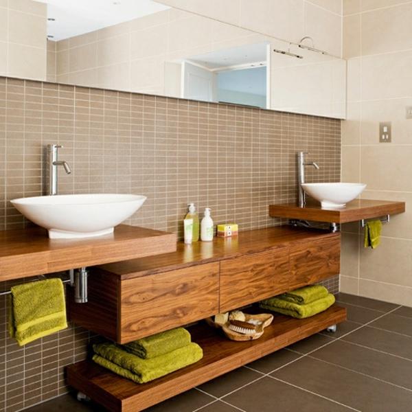 Badezimmer Hölzerne Möbel Sehr Geschmackvoll