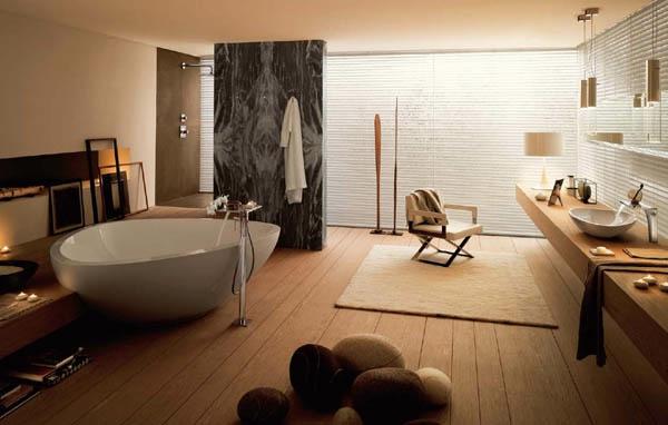 Badezimmer Hölzerne Möbel Sehr Großes Bad