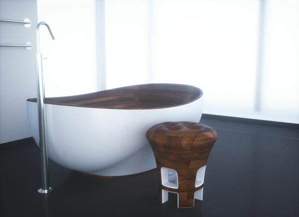 32 moderne designs von badezimmer hocker for Badezimmer container auf rollen