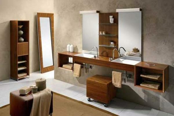 Moderne badezimmermöbel holz  Badmöbel aus Holz für ein gemütliches Ambiente! - Archzine.net