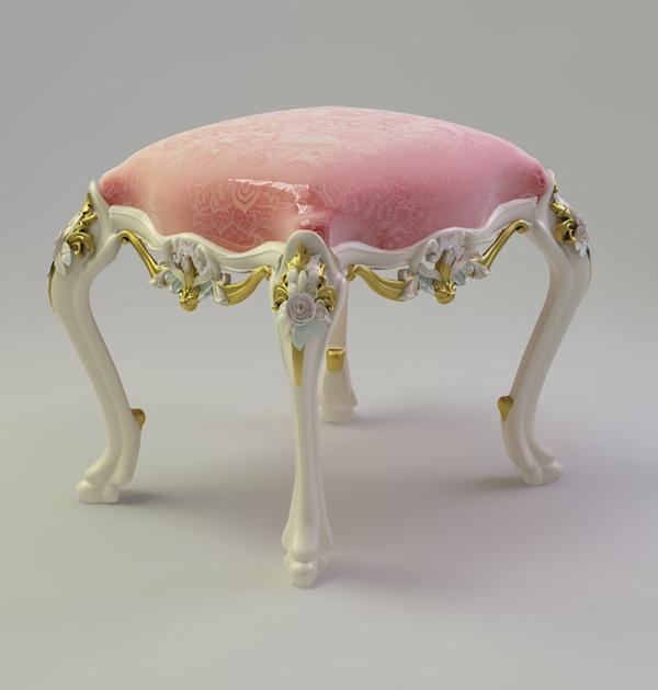 barock-hocker-rosiges-modell