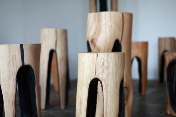 Baumstamm hocker eine kreative einrichtungsidee - Baumstamm mobel ...