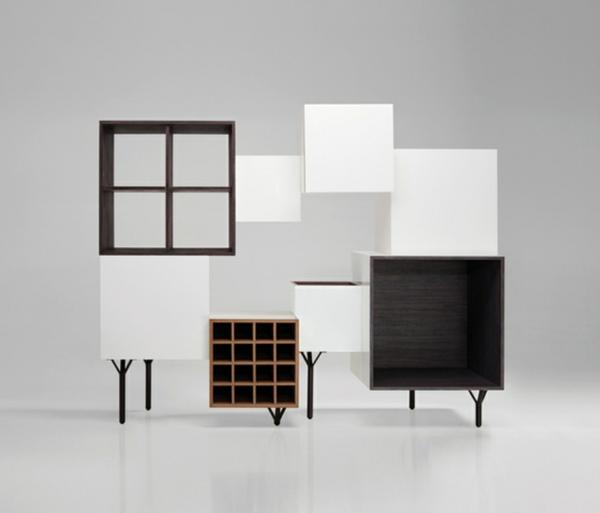 coole-designer-möbel-weiß-und-schwarz