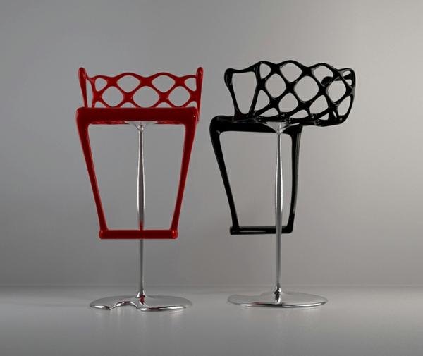 designer-hocker-rot-und-schwarz