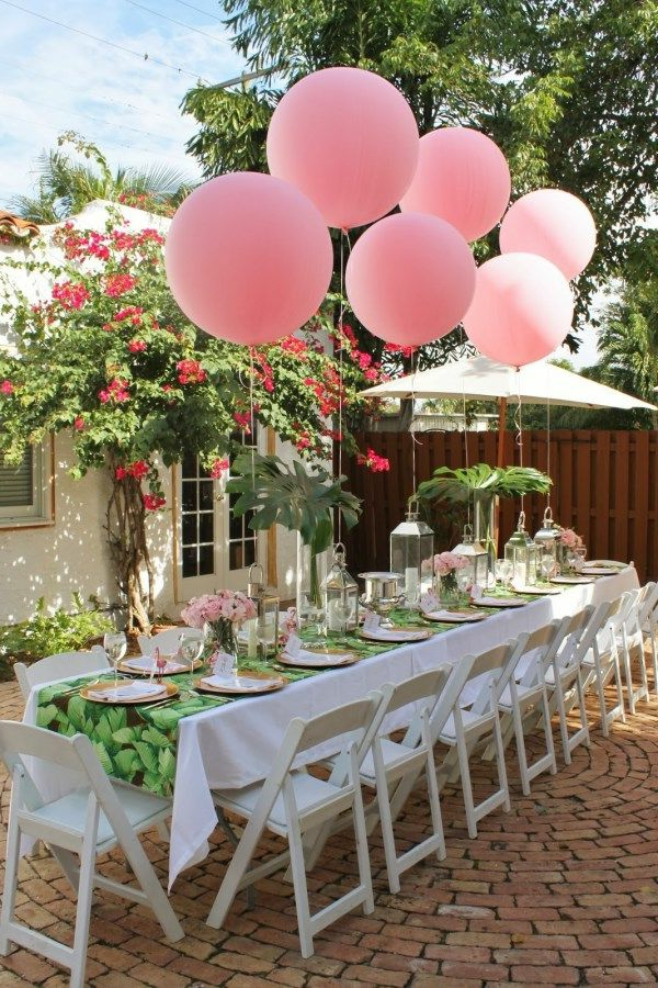 Fantastische Tischdeko Fr Gartenparty