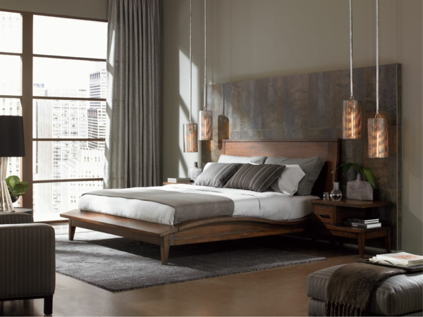 ein-stilvolles-Schlafzimmer-gestalten-schöne-Beispiele-Lampen-moderne-Schlafzimmermöbel