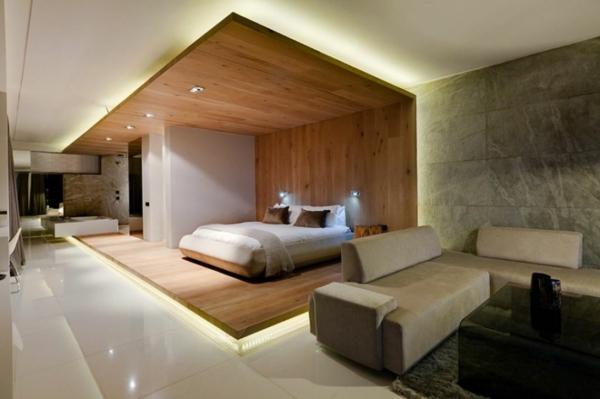 Inspiration Zur Einrichtung Schlafzimmer Holzwand  OcacceptCom
