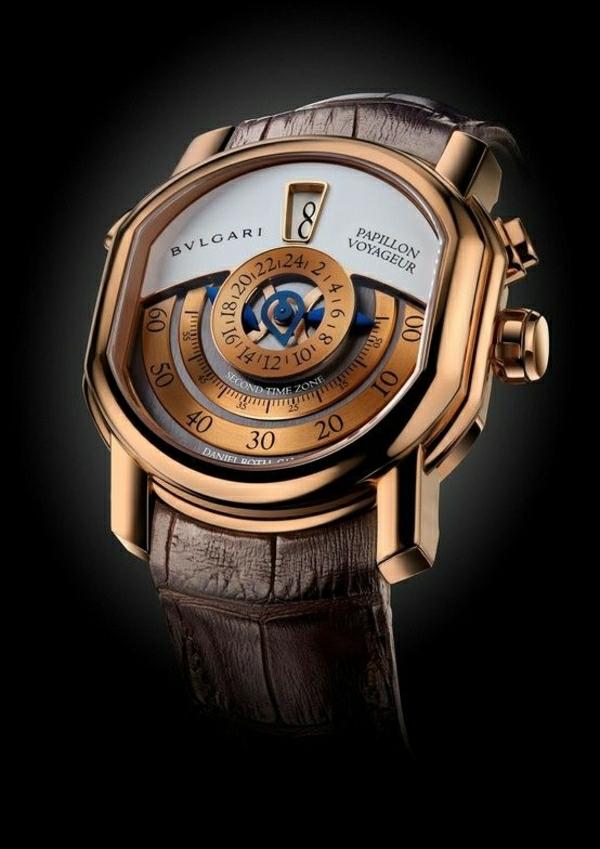 fantastisches-design-braun-leder- armbanduhr-herren-