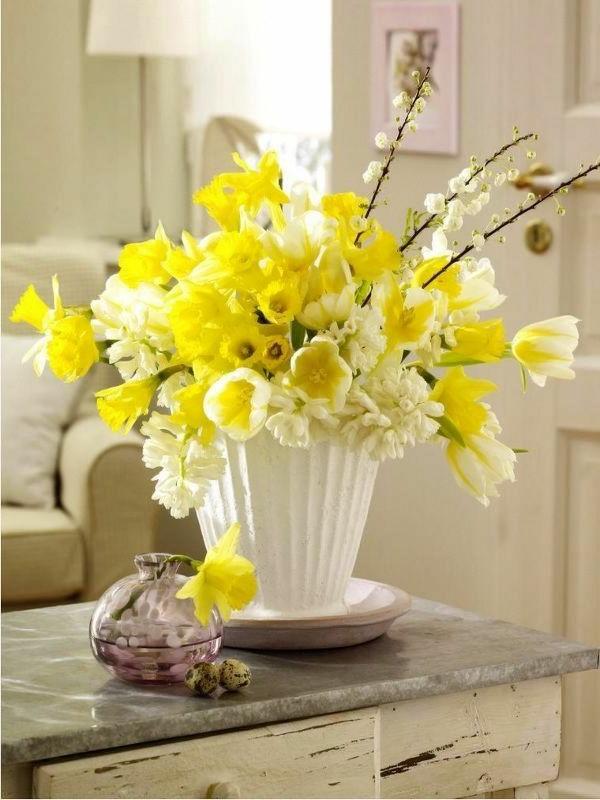 gelbe-frühlingsblumen -frühlingspflanzen -pflanzen-gelb-osterglocken