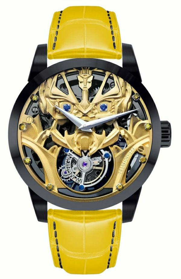 gelbe-leder- armbanduhr-herren-unikales-design-