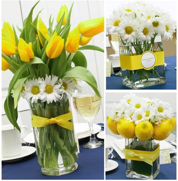 gelbe-tulpen-blumendeko--wunderschöne-weiße-blumen-als-deko-tischdeko