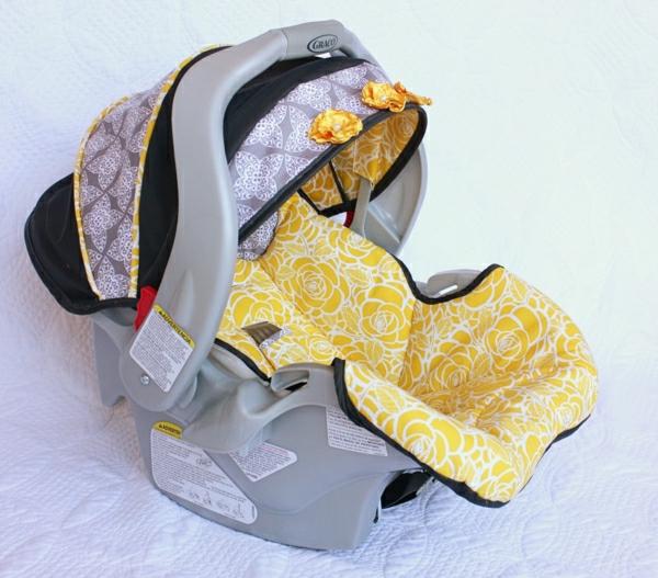 gelber-autositz-baby-autositz-kinder-autokindersitze-babyschalen