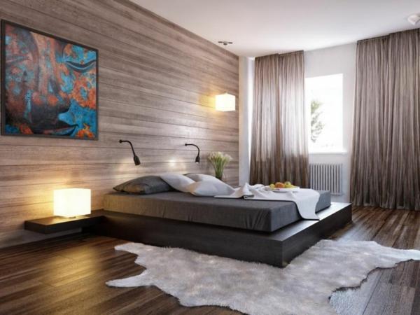 gemütliches-stilvolles-Schlafzimmer-gestalten-schöne-Beispiele-Wandgestaltung-Schlafzimmer-Ideen