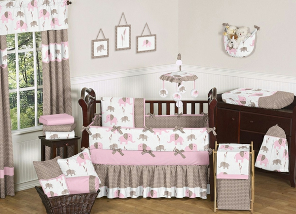 kinderzimmer deko rosa grau. Black Bedroom Furniture Sets. Home Design Ideas