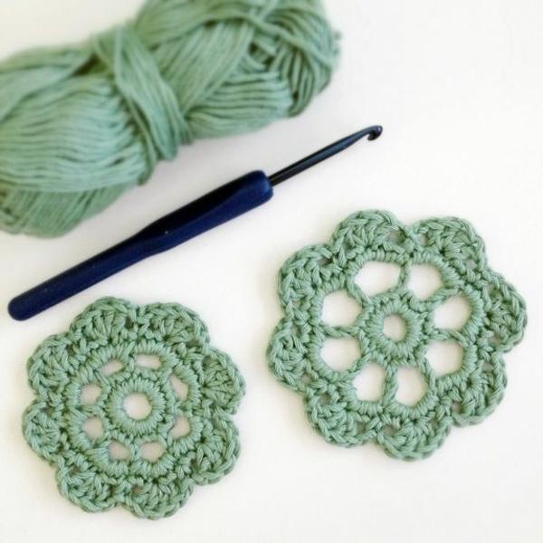 häkeln-wunderschöne-kreative-häkeleien-blumen--in-grüner-farbe