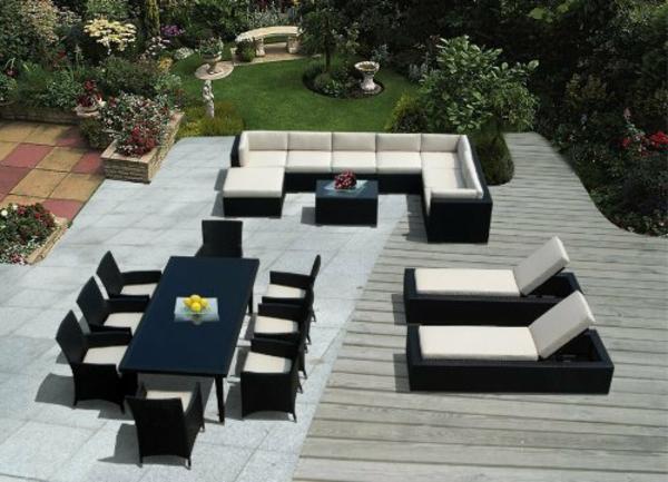 interessanter-moderner-super-wirkender-und-kreativ-gestalteter-möbelset-für-balkon-weiß-und-und-schwarz