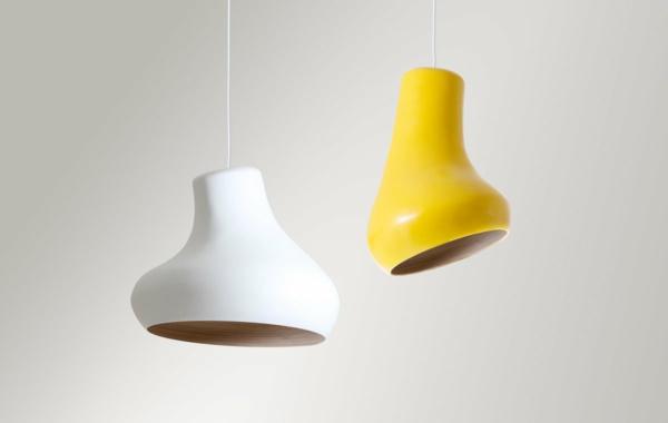 kreative-modelle-lampen-für-zuhause-moderne-einrichtungsideen-weiße-gelbe-lampe